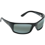 Maui Jim Peahi Sunglasses, Glossy Black/gray Frames with Neutral Gray Lenses