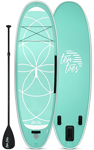 Ten Toes Inflatable Stand Up Paddle Board Bundle