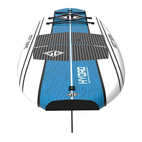 Scott Burke 10'6″ Hydro Stand-Up Paddleboard Package, White/Blue