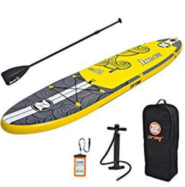 "Zray Inflatable Paddle Board Set, Pump/Paddle/Backpack Included, 6"" Thick"